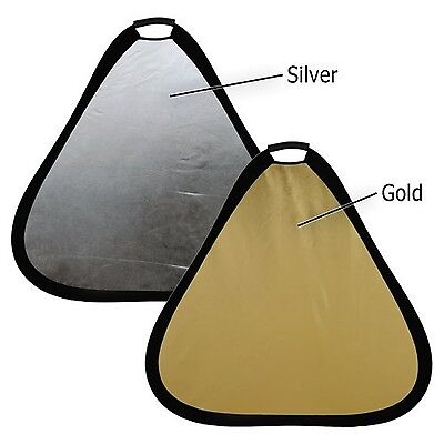 Fotodiox 2-in-1 Teardrop Reflector 32-Inch Silver Gold 2-in-1 Collapsible... New