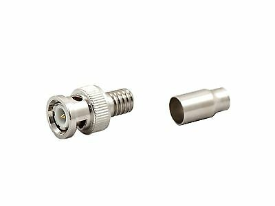 Aposonic A-XBNCM2C RG59/BNC Male Crimp-On Connector (Metallic Silver) New