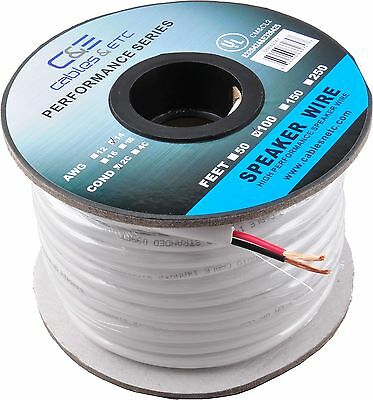 C&E 100-Feet 14 AWG CL2 Rated 2-Conductor Loud Speaker Cable 14AWG 100 Feet New
