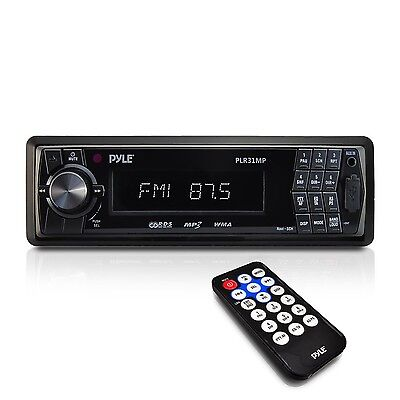 Pyle PLR31MP Digital In-Dash Receiver with AM/FM Radio and Detachable Fac... New