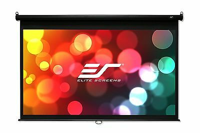 Elite Screens Manual B Series 120-inch Diag. 4:3 Pull Down Projection Man... New