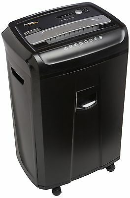 AmazonBasics 24-Sheet Cross-Cut Paper CD and Credit Card Shredder with Pu... New