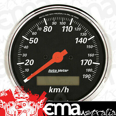 "Auto Meter Designer Black 3-1/8"" Speedo 190Km/h Electric Programmable Au1487-M"