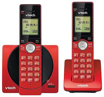 VTech DECT 6.0 Dual Handset Cordless Phones with CID Backlit Keypads and ... New