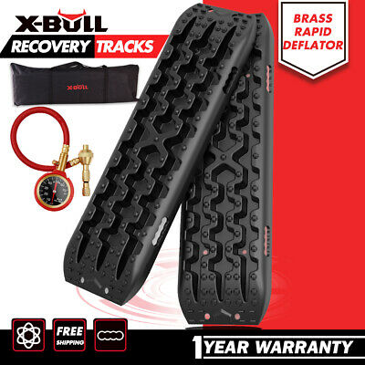 X-BULL New Recovery Tracks Sand Track 10T Vehicle Sand/Snow/Mud Trax Black 4WD