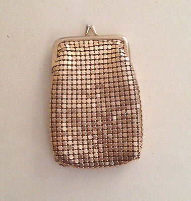 Vintage Gold Glomesh coin - cosmetic purse