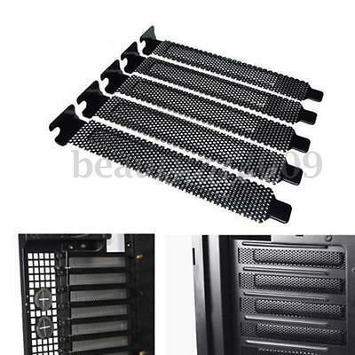10x PCI Slot Cover Bracket Dust Filter Blank Windshield Plate Steel Removable
