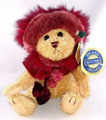 """MWMT TEDDY BEAR Brass Button Legendary Collection Fully Jointed """"RUBY HAPPINESS"""""""