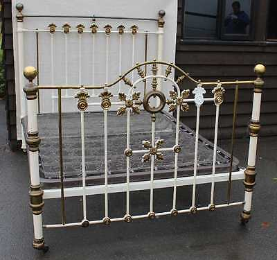 Decorative King Size Iron and Brass Bed. 1900's