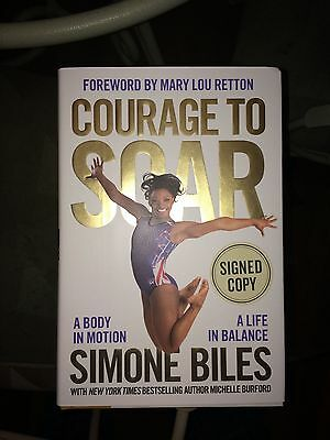 USA Gold Olympian SIMONE BILES SIGNED AUTOGRAPHED Courage to Soar BOOK PRESALE!!