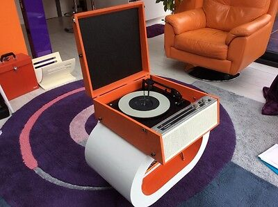 Vintage Dansette Rank Orange DRP19 Record Player 1970  Very rare. Fully Serviced