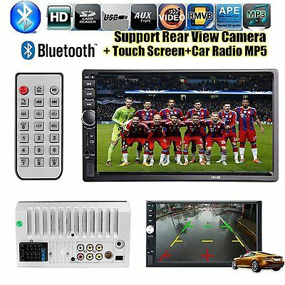 7'' Touch Bluetooth Coche Stereo Radio 2 DIN USB/TF/AUX/Remote Pantalla Táctil