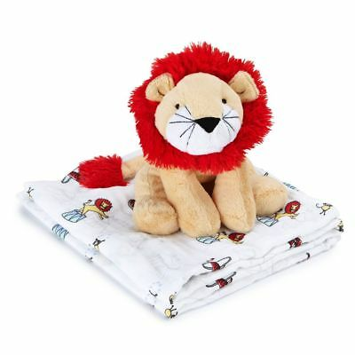 aden + anais Cuddle Companion and Swaddle (Vintage Circus Lion)