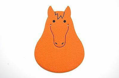 Authentic Beautiful HERMES Orange Leather HORSE PIKABOOK Bookmark #46043