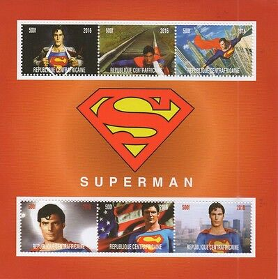 Superman Comic Movie Christopher Reeve 2016 Mnh Stamp Sheetlet