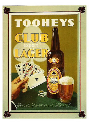 Tooheys Club Lager 600x400mm paper poster 30 years old