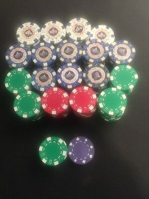 All-In Entertainment Clay Bake Poker Chips - Lot Of 161