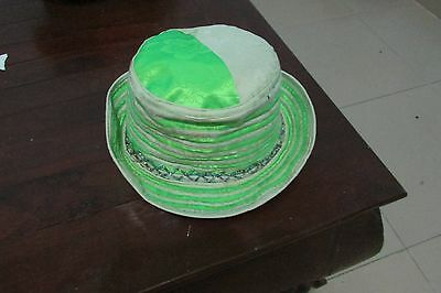 Ladies Womens Unique Bright Green Festival Hat - Colourful Funky Hippie