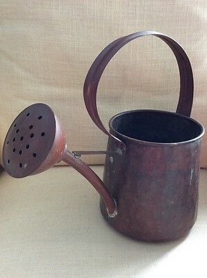 Vintage Hammered Copper Watering Can Great Size