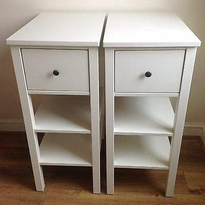 IKEA Hemnes White Bedside Tables/Cabinets x 2