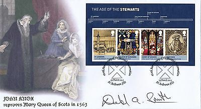 Buckingham First Day Cover 2010 Scottish Reformation Signed by Donald Smith