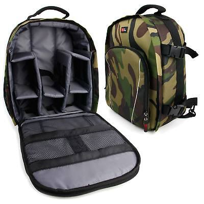 Camouflage Backpack w/ Raincover for Celestron 71346 Outland X 8x42 Binoculars
