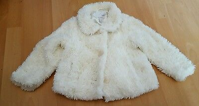 Girls White Faux Fur Coat From Next 2 - 3 Years Party Occasion