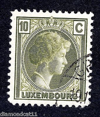 1926 Luxembourg 10c Olive SG 246 FINE USED R24537