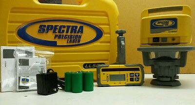 Trimble Spectra Precision LL500-4 LASER LEVEL W/HL700 RECEIVER & RECHARGE KIT