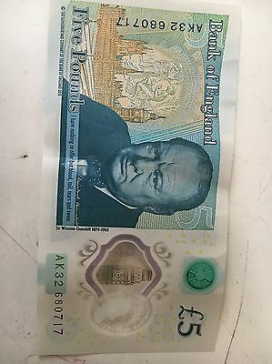 bank of england 5 note Ak 32 Series