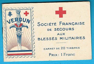 World War One - Verdun Red Cross Stamps And Cover - Extremely Rare