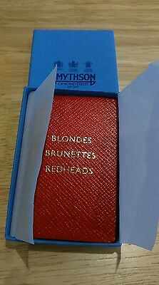 smythson wee red leather address book blondes brunettes redheads