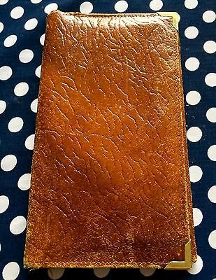 Men's Vintage Leather Wallet - Brown - Good Condition