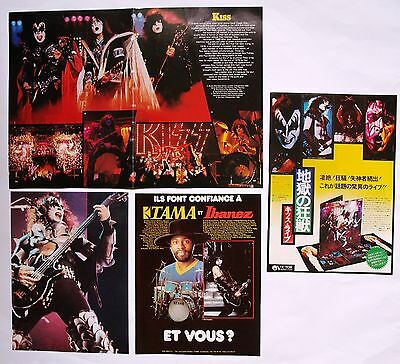 Kiss  Mini Poster / Clipping / Cutting  From Various Vintage Rock Magazine  # 1