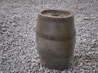 Old Rare Antique Wooden Keg Canteen Flask With Patina
