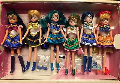 Sailor Moon Mini Doll x 6 Collector Bandai Japan