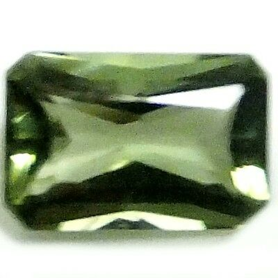 NATURAL EXCEPTIONAL GREEN TOURMALINE LOOSE GEMSTONES  (7.9 x 5.3 mm) EMERALD CUT