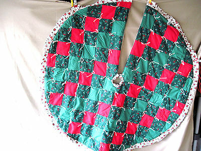 Tied Quilted Christmas Tree Skirt