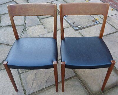 SVEGARDS MARKARYD PAIR OF 1960s SWEDISH MID-CENTURY MCM DINING CHAIRS