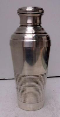 Vintage French Art Deco Silver Plated Cocktail Shaker !