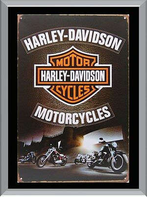Harley Davidson Rustic Vintage A1 To A4 Size Poster Prints