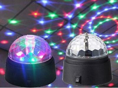 Flashing Colour Led Crystal Star Ball Disco Dj Party Battery-Powered Light