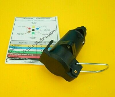 FREE UK Post - 7 Pin Flying Socket 12N for Extension Trailers, Horse Box