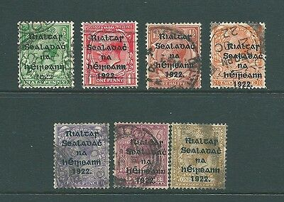 Vintage stamps from IRELAND - Used collection of George V OVERPRINTS