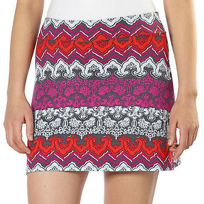 NEW NWT Tranquility by Colorado Clothing Skort Skirt Grey Red Utopia Sz S Small