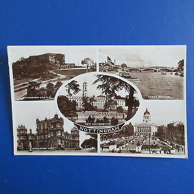 Old Postcard of Views of Nottingham.