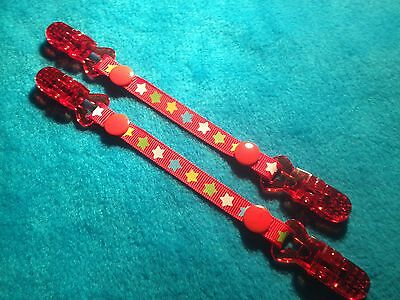 Mitten Gloves Scarf Ski  Keepers/holders Dummy Clips Available Red Star