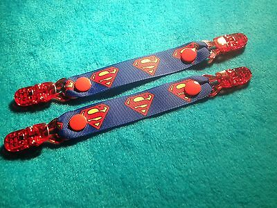 Mitten Gloves Scarf Ski  Keepers/holders Dummy Clips Available Superman