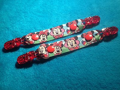 Mitten Gloves Scarf Ski  Keepers/holders Dummy Clips Available Red Minnie