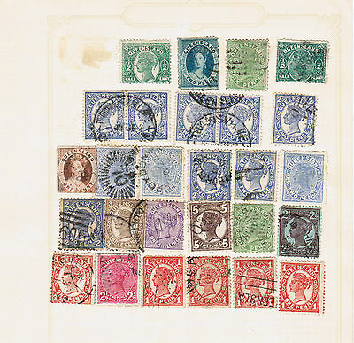 Queensland Australian States stamps on album page